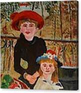 Two Sisters On The Terrace Canvas Print