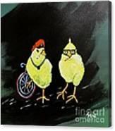 Two Smokin Hot Chicks Canvas Print