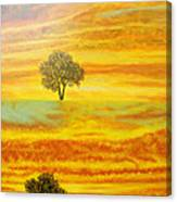 Two Sunsets In Limassol Canvas Print