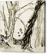 Two Tree Drawing Canvas Print
