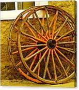 Two Wagon Wheels Canvas Print