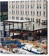 Two Wtc Under Construction Canvas Print