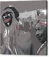 Two Yaqui Pascola Dancers Gallery In The Sun Tucson Arizona 1969-2013 Canvas Print