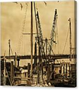 Tybee Island Shrimp Boats Canvas Print