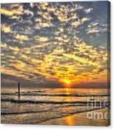 Calm Seas And A Tybee Island Sunrise Canvas Print