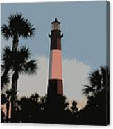Tybee Light At Dusk Canvas Print