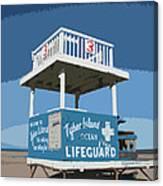 Tybee Third Street Lifeguard Stand Canvas Print