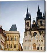 Tyn Church In Prague Canvas Print