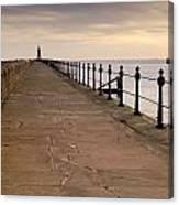 Tynemouth North Pier Canvas Print