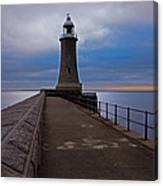Tynemouth Pier Lighthouse Canvas Print