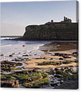 Tynemouth Priory And Castle Across King Edwards Bay Canvas Print