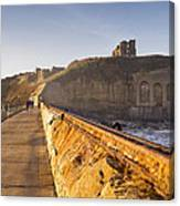 Tynemouth Priory And Castle From North Pier Canvas Print
