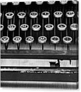 Typewriter Triptych Part 2 Canvas Print