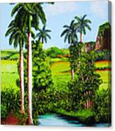 Typical Country Cuban Landscape Canvas Print