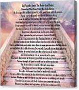 Typography Art Desiderata Poem On Stairway To Heaven Canvas Print