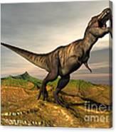Tyrannosaurus Rex Dinosaur Walking Canvas Print