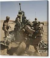 U. S. Marines Ram A Satellite-guided Canvas Print