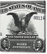 U. S. Silver Certificate 1899 Canvas Print