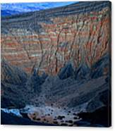 Ubehebe Crater Twilight Death Valley National Park Canvas Print