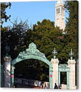 Uc Berkeley . Sproul Plaza . Sather Gate And Sather Tower Campanile . 7d10027 Canvas Print