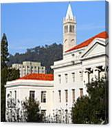 Uc Berkeley . Sproul Plaza . Sproul Hall .  Sather Tower Campanile . 7d10008 Canvas Print