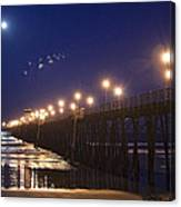 Ufo's Over Oceanside Pier Canvas Print