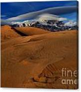 Ufos Over Sand Dunes Canvas Print