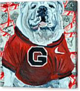 Uga Bulldog II Canvas Print