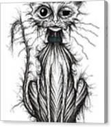 Ugly Cat Canvas Print
