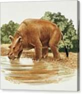 Uintatherium Canvas Print