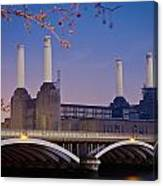 Uk, England, View Of Battersea Power Canvas Print