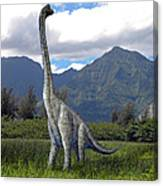 Ultrasaurus In Meadow Canvas Print
