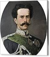 Umberto I Of Italy 1844-1900. King Canvas Print