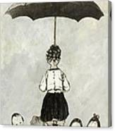 Umbrella Children Canvas Print