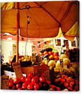 Umbrella Fruitstand - Autumn Bounty Canvas Print
