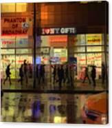 Umbrella Parade - New York In The Rain Canvas Print