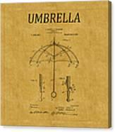 Umbrella Patent 1 Canvas Print