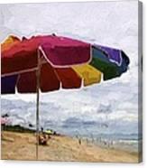 Umbrella Time Canvas Print