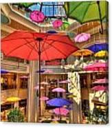Umbrellas At Palazzo Shops Canvas Print