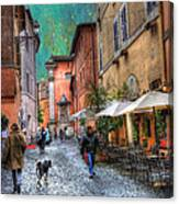 Una Notta A Roma Canvas Print