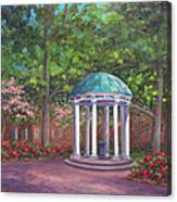 UNC Old Well in Spring Bloom Canvas Print