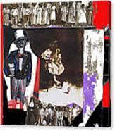 Uncle Sam Richard Nixon Mask Nuns Sitting Child Collage 2013 Canvas Print