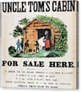 Uncle Tom's Cabin, C1860 Canvas Print