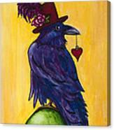 Uncommon Raven Love 1 Canvas Print