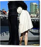 Unconditional Surrender Kiss Canvas Print