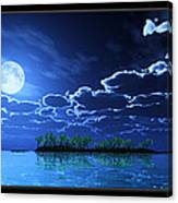 Under A Silvery Moon... Canvas Print