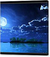 Under A Silvery Moon...artistic Effect Canvas Print