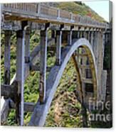Under Bixby Bridge By Diana Sainz Canvas Print