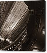 Under The Balcony Canvas Print