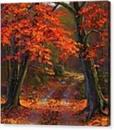 Under The Blazing Canopy Canvas Print